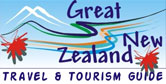 Great New Zealand Travel & Tourism Information for vacations and holidays in New Zealand.  Accommodation, transportation, activities, attractions and more links easily searchable.